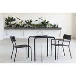 Serax August chair with armrests, narrow, black