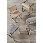 Fredericia BM62 armchair, cane wicker - oiled oak