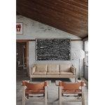 Fredericia The Spanish Chair nojatuoli, konjakki nahka - saippuoitu tammi