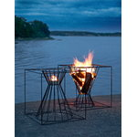 Skargaarden Boo fire basket, black