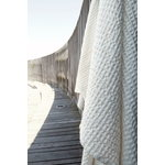 The Organic Company Big Waffle towel and blanket, natural white