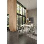 Gubi Epic dining table, round, 130 cm, white travertine