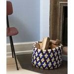 Hay Bead kori, 40 cm, burgundi - sininen - valkoinen