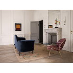 Gubi Grand Piano sohva, oikea, Velluto 970 - mustat jalat