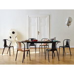 Vitra Belleville armchair, black stained ash - black