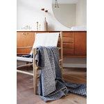 Røros Tweed Bernadette viltti, 200 x 135 cm, tummanharmaa - vaaleanharmaa