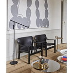 Hay Fifty-Fifty floor lamp, black