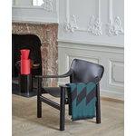 Hay Bernard lounge chair, black painted oak - black leather