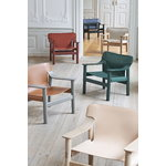 Hay Bernard lounge chair, green painted beech - green canvas