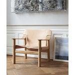 Hay Bernard lounge chair, matt lacquered oak - natural leather