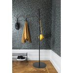 Maze Bill coat stand, black - walnut stained ash