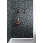 Maze Bill coat rack, XS, black - walnut stained ash