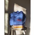 HAY Blue tote bag, L, red logo