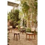 Gubi C-Chair, cane - oiled walnut