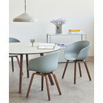 HAY About A Chair AAC22, lacquered walnut - dusty blue
