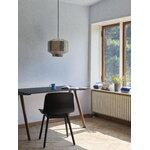 HAY CPH90 desk, lacquered walnut - dark grey lino