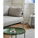 Hay Can sofa, 3-seater, Ruskin 05 - black canvas - chrome frame