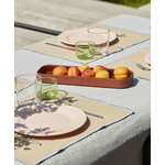 HAY Facade tray, dark terracotta