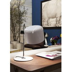 Oluce Coupé 2202 table lamp, white