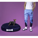 Fatboy Doggielounge Velvet dog bed, dark blue