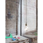 Muuto E27 LED socket lamp, olive, without canopy