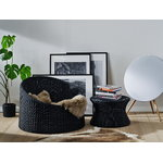 Eero Aarnio Originals Mushroom stool, large, black polyrattan