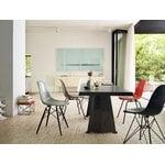 Vitra Eames DSR Fiberglass tuoli, red orange - musta