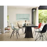 Vitra Eames DSR Fiberglass Chair, red orange - black