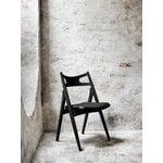 Carl Hansen & Søn CH29P chair, black oak- black leather Loke 7150
