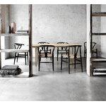 Carl Hansen & Søn CH24 Wishbone chair, black beech - natural cord