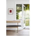 Fredericia Mogensen 3171 bench, oiled oak - black leather