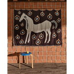 Marimekko Musta Tamma huopa, 130 x 180 cm, ruskea - beige