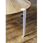 TIPTOE Coffee table and bench leg 43 cm, cloudy white