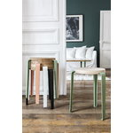 TIPTOE Lou stool, oak - cloudy white