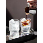 Ferm Living Ripple glasses, 4 pcs, clear