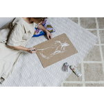 Finarte Paletti cushion cover 50 x 50 cm, blue