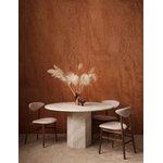 Gubi Epic ruokapöytä, pyöreä, 130 cm, valkoinen travertiini