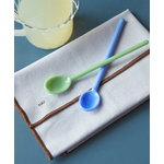 Hay Glass spoons Mono, 2 pcs, sky blue and green