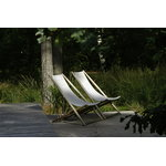 Skargaarden H55 easy chair, teak - canvas