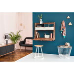 Harto Gaston wall desk 80 cm, walnut - slate grey