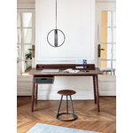 Honore desk, walnut - slate grey