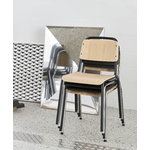 Hay Halftime chair, chrome - black stained oak