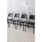 Hay Halftime chair, black - black stained oak