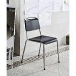 HAY Halftime chair, black oak - chrome