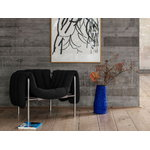 Hem Puffy lounge chair, anthracite - stainless steel