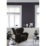 By Lassen Twin 49 table black, cool grey/black stained ash