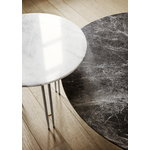 Gubi IOI coffee table, 70 cm, black - grey marble