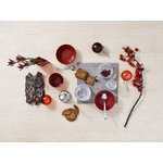 Iittala Glass ball set 5 pcs, red