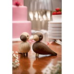 Kay Bojesen Lovebirds 2 pcs, oak - smoked oak