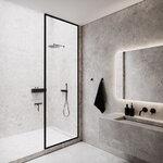 Nichba Bath Shelf 20 hylly, musta